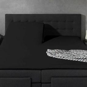 Home Care 2-PACK: Splittopper Jersey - Home Care Zwart 140 x 200/210/220 cm