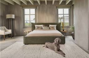 Goossens Excellent Gestoffeerd Ledikant Bergamo, Gestoffeerd ledikant 160 x 210 cm