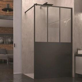 Inloopdouche SanSwiss Walk-In Easy Loft Atelier 120x200 cm Mat Zwart