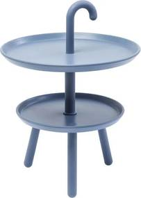 Kare Design Jacky Retro Bijzettafeltje Blauw - 42 X 42cm.
