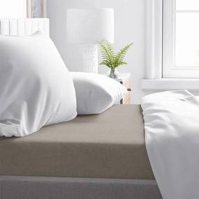 DreamHouse Bedding Verwarmend Laken Flanel - Taupe 75 x 100 cm