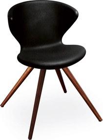 Tonon Concept stoel met walnoten onderstel zwart