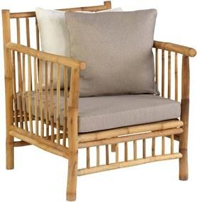 Bamboo loungestoel- bruin