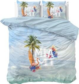 DreamHouse Bedding Miami Summer Blue Lits-jumeaux (240 x 200/220 cm + 2 kussenslopen) Dekbedovertrek