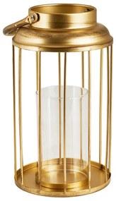 Lantaarn goud metaal - ⌀16x29 cm