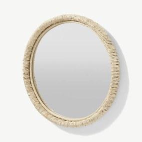 Tulea ronde spiegel met geweven frame, 60cm