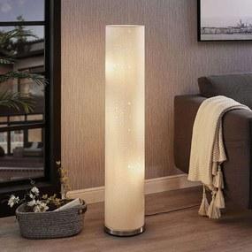 Vloerlamp Umma met kleine uitsparingen, wit