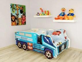 Peuterbed Top Beds Truck 140x70 Politie Inclusief Matras