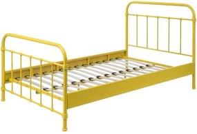Vipack bed New York - geel - 120x200 cm - Leen Bakker