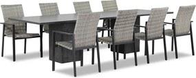 Lifestyle Upton/Graniet 300 cm dining tuinset 9-delig stapelbaar
