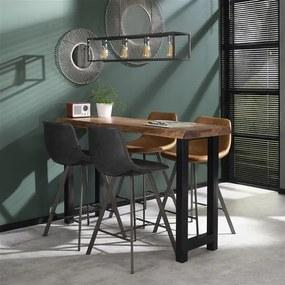 Dimehouse | Barkruk Benjie breedte 47 cm x diepte 51 cm antraciet barkrukken kunstleer poefs & krukken meubels | NADUVI outlet