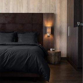 Hotel Home Collection Manchester - Zwart 1-persoons (140 x 200/220 cm) Dekbedovertrek
