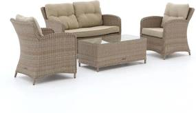 Intenso Leone/Milano stoel-bank loungeset 4-delig - Laagste prijsgarantie!