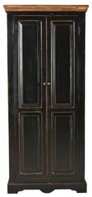 Zwarte Landelijke Wandkast - 65x45x180cm.