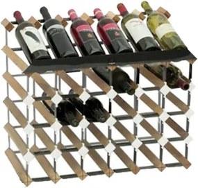 Wijnrek hout 30 flessen flessenrek