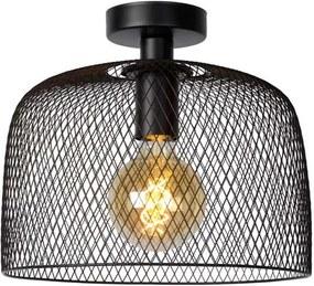 Lucide plafonnière Mesh - zwart - 30x30x26 cm - Leen Bakker