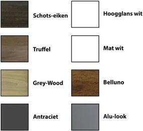 Sanicare Qlassics Spiegelkast Qlassics 60cm 1 dubbelzijdige spiegeldeur grey wood 29.45060Q