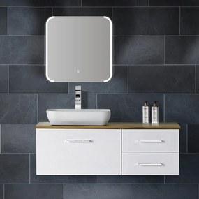 Badkamerspiegel Jolie 60x60cm Geintegreerde LED Verlichting Verwarming Anti Condens Touch Lichtschakelaar Dimbaar