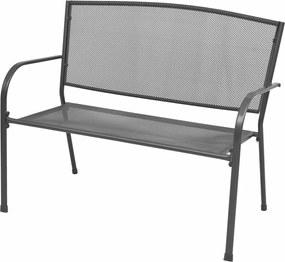 Tuinbank 108 cm staal en mesh antraciet