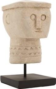 Goossens Decoratie Imperial, Stone head 19 cm hoog
