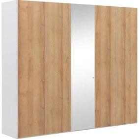 Goossens Kledingkast Easy Storage Ddk, Kledingkast 253 cm breed, 220 cm hoog, 4x draaideur en 1x spiegel draaideur midden