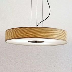 Houten hanglamp Dominic in ronde vorm