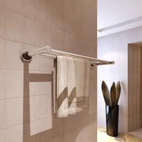 Handdoekenrek met 2 roedes roestvrij staal