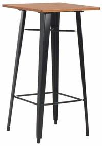 Medina Bartafel 60x60x108 cm massief grenenhout staal zwart