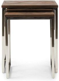 Rivièra Maison - Bushwick End Table Set 2 - Kleur: zilver