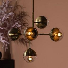 BePureHome Globular Messing Hanglamp Glasbollen
