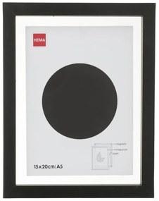 Fotolijst Hout 15x20 - Zwart - Magnetisch