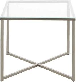 Bijzettafel Indor - glas - 45x50x50 cm - Leen Bakker