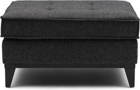 Rivièra Maison - The Jake Footstool, mélane weave, carbon - Kleur: zwart