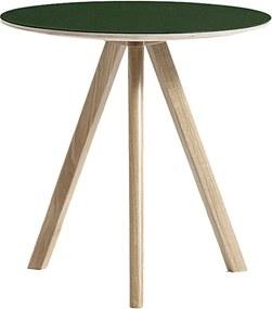 Hay Copenhague CPH20 bijzettafel mat gelakt eiken - groen linoleum 50