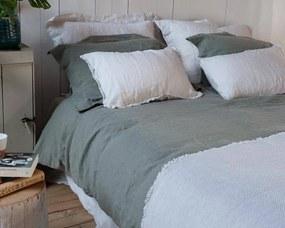 Dekbedovertrek groen, linnen & katoen, Remy Lits-jumeaux (240-200 cm)