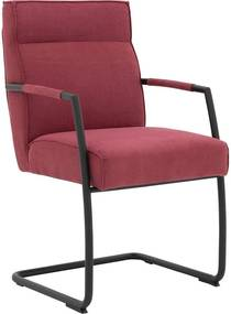 Goossens Knock Out rood stof met arm, modern design