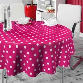 Rond tafelzeil Twilight Roze