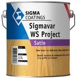 Sigma Sigmavar WS Project Satin - Kleurloos - 2,5 l