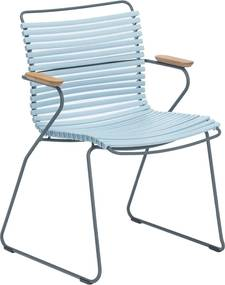 Houe Click Armchair tuinstoel dusty light blue set van 2