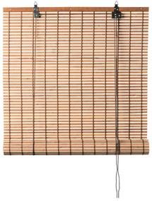 Rolgordijn bamboe - lichtbruin - 90x180 cm