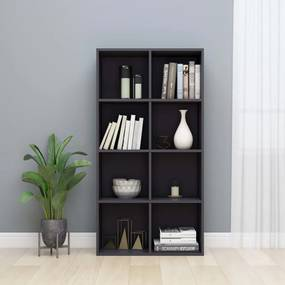 Boekenkast/dressoir 66x30x130 cm spaanplaat hoogglans grijs