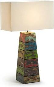 Kave Home Birt (Trib) Kleurrijke Tafellamp Van Hout