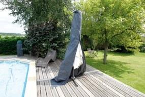 Beschermhoes voor parasol grijs PE H202x dia. 27/42cm