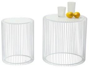 Kare Design Wire White Witte Tafeltjes - 44 X 44cm.