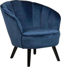 Fauteuil fluweel blauw DALA