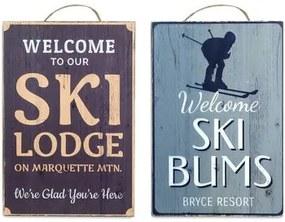 Schilderijen Multicolour Signes Grimalt  Skiwandplaat Set 2 He