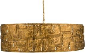 Goossens Excellent Hanglamp Cecile, Hanglamp ovaal met 8 lichtpunten + 1 led onderspot