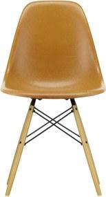 Vitra Eames DSW Fiberglass stoel esdoorn goud Ochre Dark