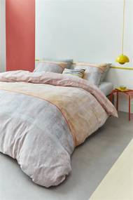 Beddinghouse | Dekbedovertrekset Libby lits-jumeaux: breedte 240 cm x lengte 200/220 cm + oranje dekbedovertrekken katoensatijn | NADUVI outlet