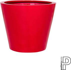Pottery Pots | Bloempot Bucket medium: hoogte 50 cm x diameter 58 cm glimmend rood outdoor bloempotten fiberstone outdoor | NADUVI outlet